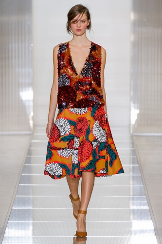 Transition to Spring-with bold flowers, this inspiration from Marni S/S 2013