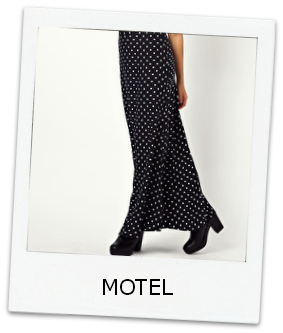 Motel-On-Trend-Maxi-Skirt-Polka-Dots