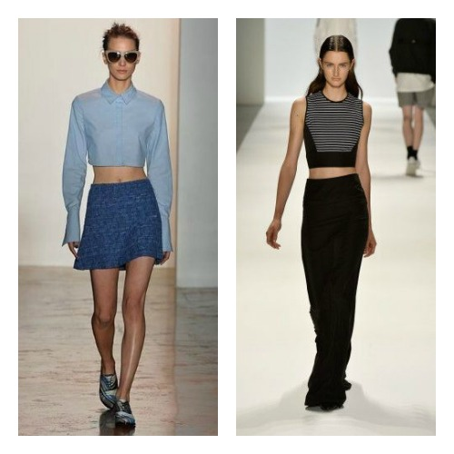 The Bare Midriff from Peter Som and Richard Chai