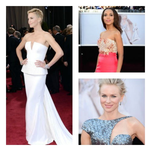Clockwise: Kerry Washington, Naomi Watts and Charlize Theron