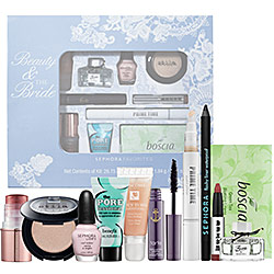 Sephora  Beauty & the Bride: Exclusive 11-piece sampler that features all your must-have wedding-day beauty essentials in a keepsake box.