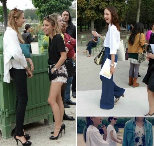 The White Shirt seen at Paris Fashion Week