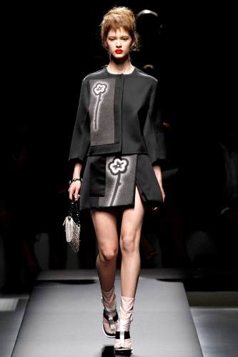 Transition to Spring-with not so basic black , this inspiration from Prada S/S 2013