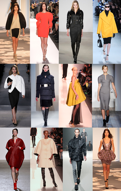 New York Fashion Week Trends From Fall 2013: SCULPTED FORMS