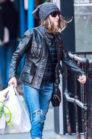 Sarah Jessica Parker wore her Belstaff Triumph jacket