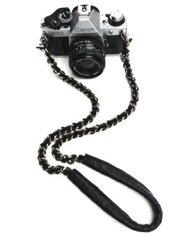 Sarah Frances Kuhn Super Deluxe Brass Tax Camera Chain