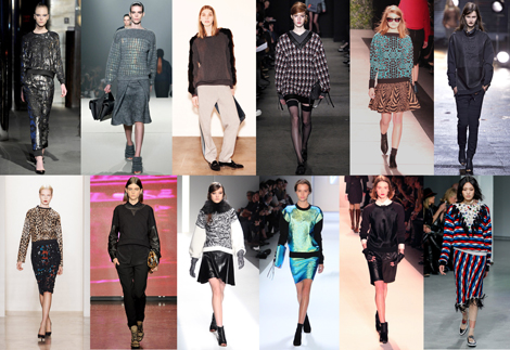 New York Fashion Week Trends From Fall 2013: UPDATED SWEATSHIRTS