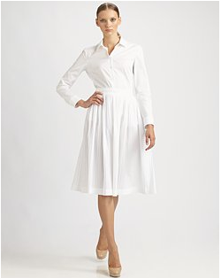 A more daytime shirt & skirt version of this Jil Sander outfit is available at Saks.