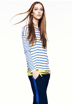 Vince Mixed Stripe Pullover is a casual way to look polished for errands