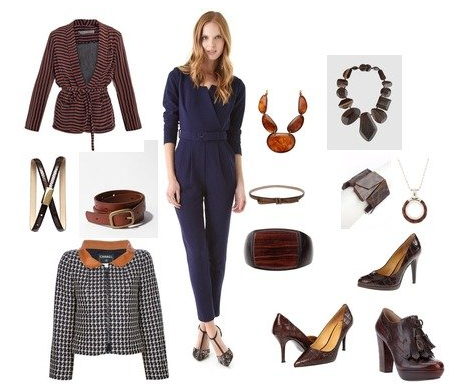 Fall 2013 Brown Dresses For Women to wear navy with brown
