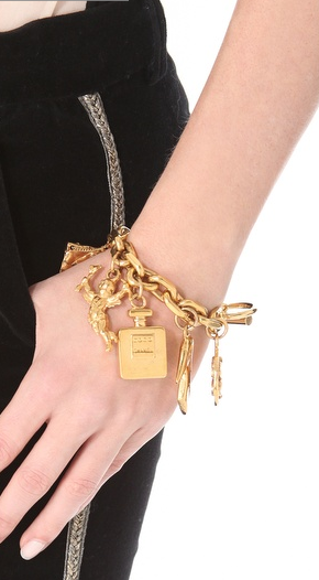 If you're yearning for Chanel, try some timeless vintage pieces, like this charm bracelet at Shopbop