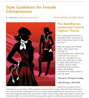 Style guidelines for business women