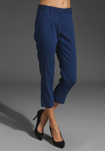 THEORY Yanette Habitat Trouser in Primary Blue  at RevolveClothing