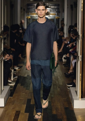 True Blue Denim at Valentino S/S 2014