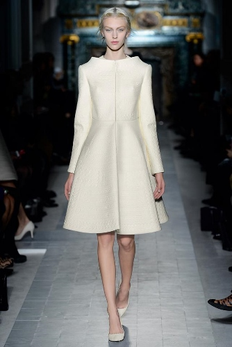 A simple ivory shift can add instant elegance to your look, like this one from Valentino Haute Couture Spring 2013