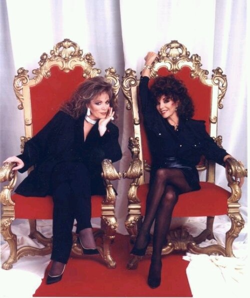 Jackie Collins & Joan Collins, back in the day