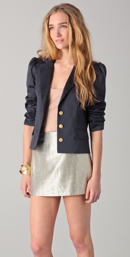 The right blazer can go from casual to more dressed up, like this alice + olivia  Camio Puff Sleeve Blazer