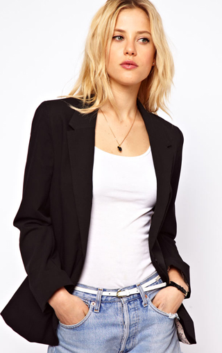 a boyfriend jacket like this inexpensive one from asos is a wardrobe basic