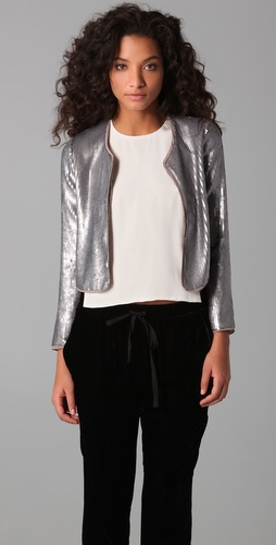 BB Dakota Royale Sequined Jacket at ShopBop is glam, yet simple enough to be reworked several different ways