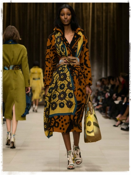 From the Burberry 2014 runway at London Fashion Week