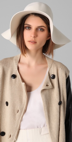 By Malene Birger Elliso Hat from ShopBop is styled effortlessly and offhanded, as it should