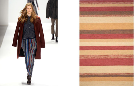From the Richard Chai fw 12 runway and a Ravella Stripe Rug at BedBath