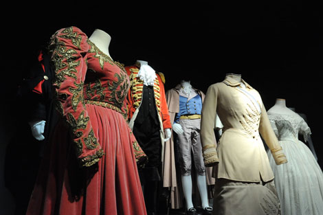 Costumes from many of the movies filmed at Cinecitta are on view at the new exhibition, CINECITTÀSHOWSOFF