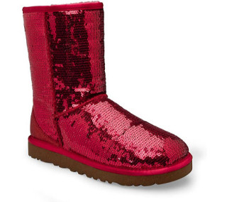 For me, these sparkle glitter UGGS win the fugly shoe of the year award.