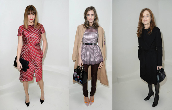 Marie Josée Croze, Allison Williams and Isabelle Huppert all in Dior