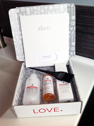 My custom box of e-Salon Demi-Permanent Color