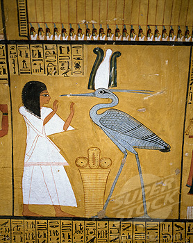 Egypt, Luxor, Dier el Medina, Tomb of Art, Artisan Inherkha, Painting