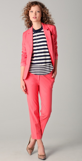 Elizabeth and James Spring Jim Blazer and Pants in Tiger Lilly (at Shopbop).