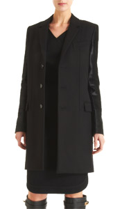 Updated version of timeless chic by way of this three-button Givenchy slim coat.