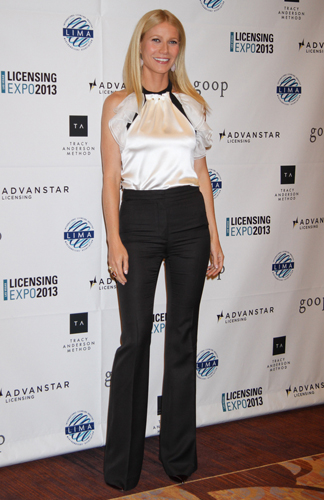 Gwyneth Paltrow makes a case for long & elegant flare pants