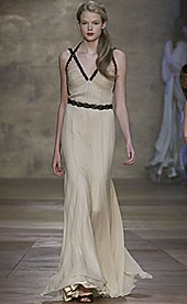 Catwalk version of the Amanda Wakeley gown from the Autumn/Winter 2006-2007 collection. Photo via London Fashion Week