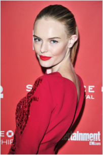 Prime Time- Kate Bosworth preps winter weary skin before applying bold makeup