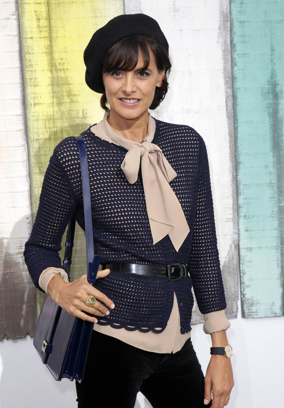 Ines De La Fressange shows you the Right way to wear a bow blouse, are you game for one?