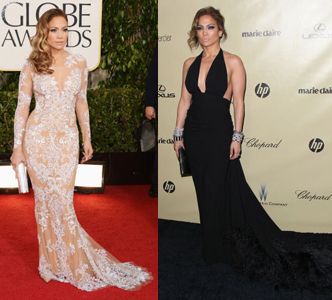 Two dresses for J.Lo