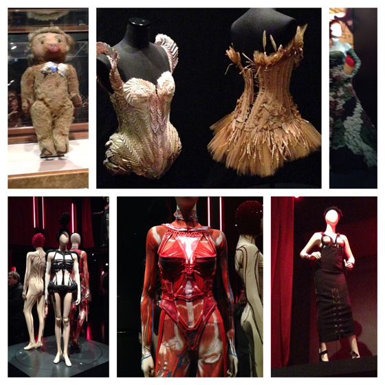 Ah, those corsets! Including Gaultier's first outing on his little stuffed bear.