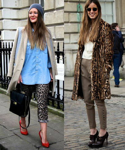Dressed down leopard at London Fashion Week