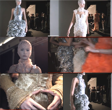Stills from Alexander McQueen, a short backstage film, created by young filmmaker Sean Frank