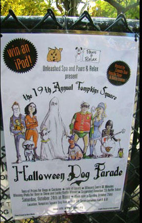 19th Annual Tompkins Square Halloween Dog Parade poster