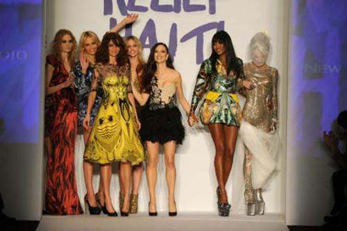 Naomi Campbell's Fashion For Relief™, a spectacular charity fashion show and auction to raise money for Haiti.