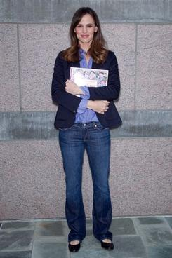 Jennifer Garner at the the Milk + Bookies First Annual Story Time Celebration in Los Angeles