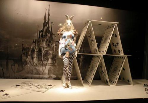 Printemps Paris Alice in Wonderland store windows