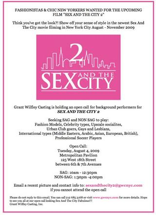 Sex and the City 2 - Casting Call