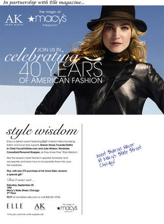 Shop with Sharon at Elle Magazine, Macy's event for AK Anne Klein