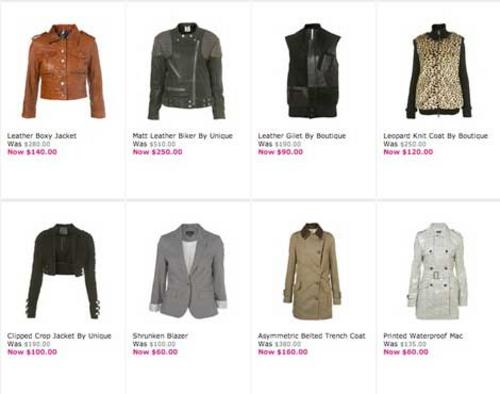 TopShop jackets & coats on sale