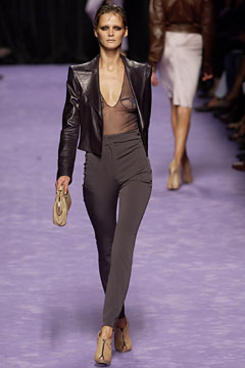YSL leather jacket from the the fall 2003 collection