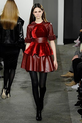 The Resurgence of Velvet, sparked by Christopher Kane's stunning F/W 2007 Collection